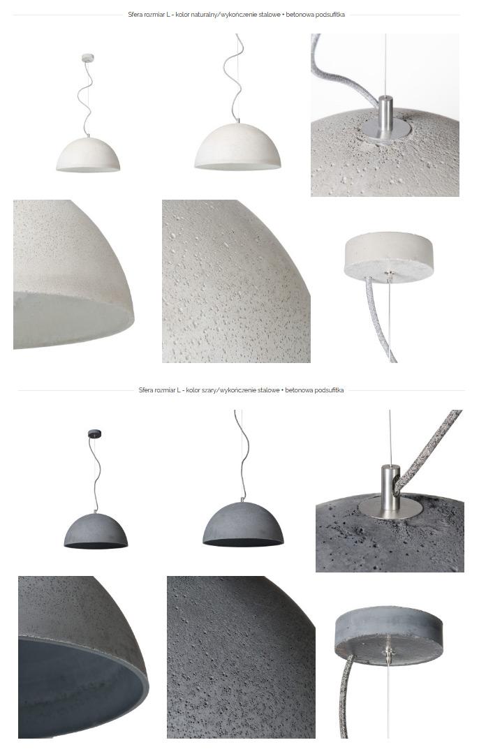 sfera lampa betonowa