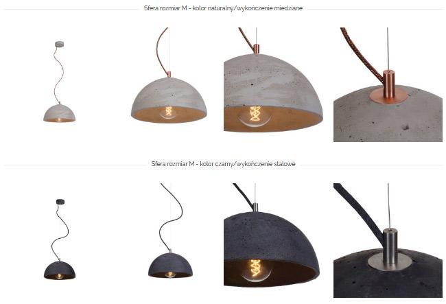 lampa betonowa sfera