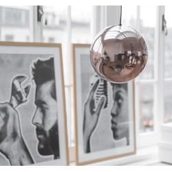 Szklana lampa miedziana - HK Living