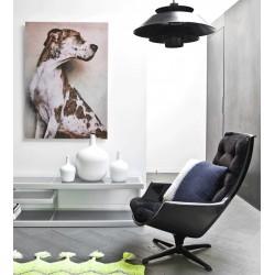 Nowoczesna lampa Lounge (szara, biała lub czarna) - HK Living