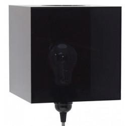 Czarna lampa ścienna Plexi - HK Living