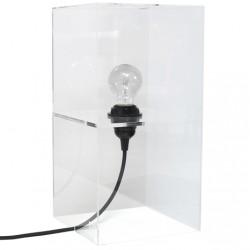 Minimalistyczna lampa stołowa PLEXI M - HK Living