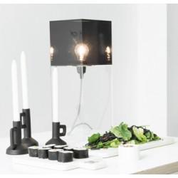 Czarna lampa stołowa PLEXI L - HK Living