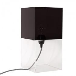 Czarna lampa stołowa PLEXI M - HK Living