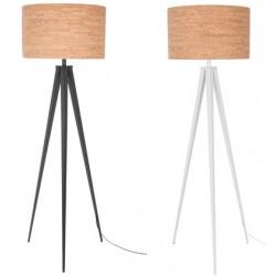 Prosta lampa na trzech nogach TRIPOD CORK (biała lub czarna) - Zuiver