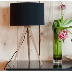 Czarna lampa stołowa TRIPOD WOOD - ZUIVER