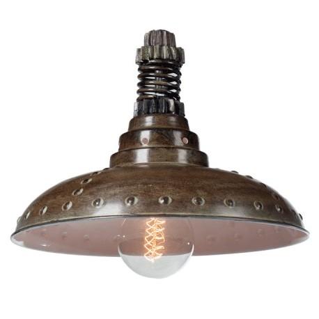 Industrialna lampa wisząca Factoria 1 Brown