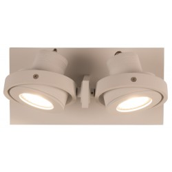Biały reflektor LUCI-2 LED podwójny -ZUIVER