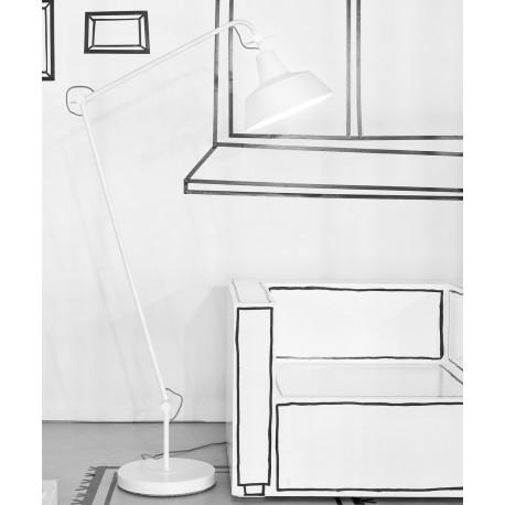Biała lampa podłogowa Chicago - It's About RoMi