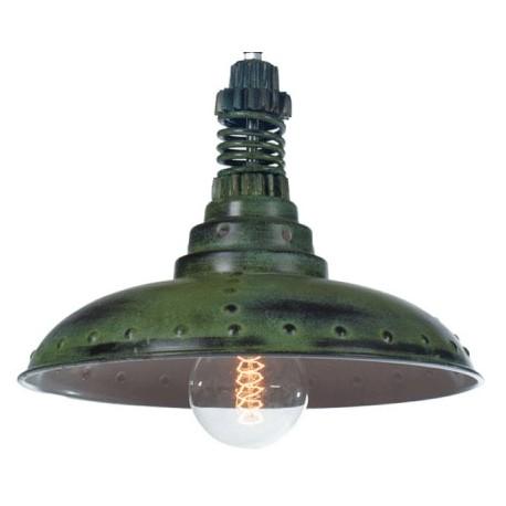 Industrialna lampa wisząca Factoria 1 Green