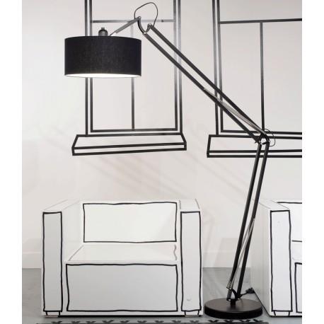 Czarna lampa podłogowa MILANO - It's About RoMi