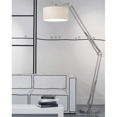 Niklowana lampa podłogowa MILANO - It's About RoMi