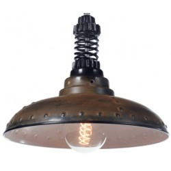 Industrialna lampa wisząca Factoria 1 Rusty Brown