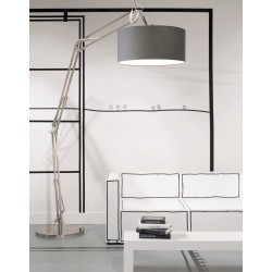 Niklowana lampa podłogowa MILANO XL - It's About RoMi