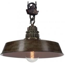 Przemysłowa lampa wisząca Factoria 3 Green Brown