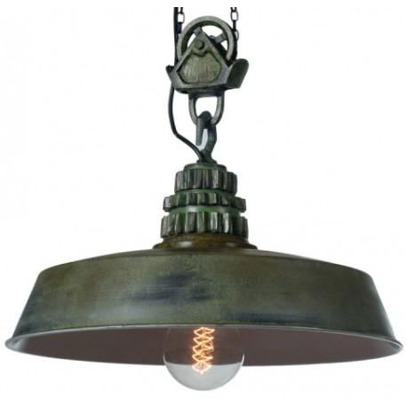 Przemysłowa lampa wisząca Factoria 3 Green