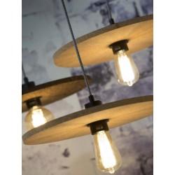 Korkowa lampa industrialna Algarve (ciemny brąz) - It's About RoMi