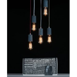 Betonowa lampa wisząca - oprawa okrągła