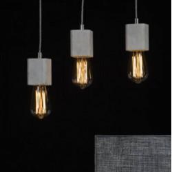 Betonowa lampa wisząca - oprawa kwadratowa