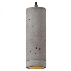 Prosta lampa betonowa - światło LED, wysokość 21