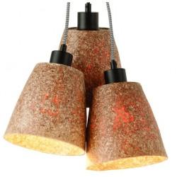 Oryginalna lampa wisząca z drewna z drewna sekwoi - SEQUOIA 3
