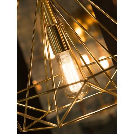 Złota lampa industrialna ANTWERP - It's About RoMi