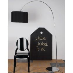 Czarna lampa podłogowa WIGGLY