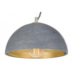 Betonowa lampa wisząca eMka Brass