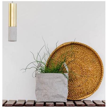 Mosiężno-betonowa lampa wisząca 22