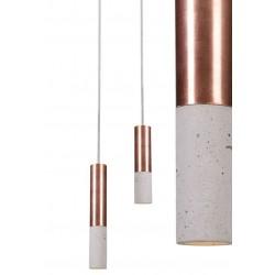 Betonowa lampa z miedzianym wykończeniem (23 cm)