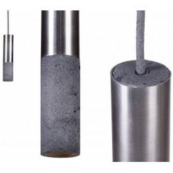 Nowoczesna lampa z betonu i stali - INOX 33