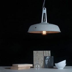 Lampa betonowa industriola