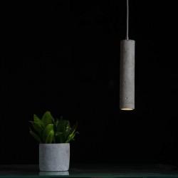Prosta lampa betonowa - światło LED, wysokość 31