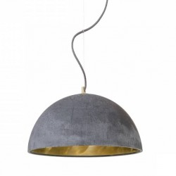 Betonowa lampa wisząca z mosiężnym wnętrzem - rozmiar L