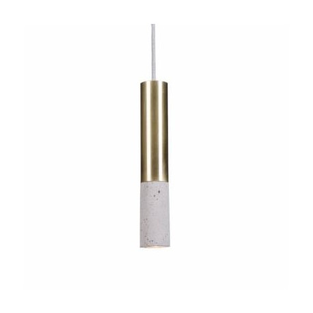 lampa betonowo-mosiężna