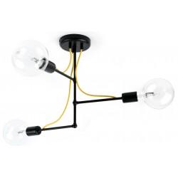 Metalowa lampa loftowa - trzy źródła światła