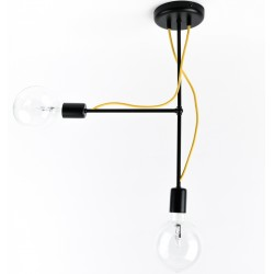 Nowoczesna lampa metalowa (czarna) TUBO
