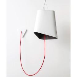 Nowoczesna lampa wisząca TRIGONE - szaro-biała