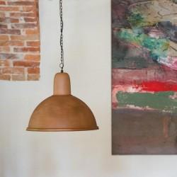 Metalowa lampa wisząca - wersja Rusty