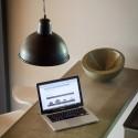 Metalowa lampa wisząca - wersja szara lub czarna