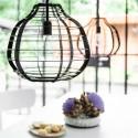 Czarna lampa metalowa LAB XL - HK Living