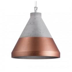 Oryginalna lampa wisząca CRAFT S beton/dół miedź