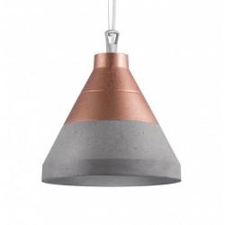 Nowoczesna lampa betonowa CRAFT S beton/miedź góra