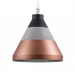 Nietypowa lampa betonowa CRAFT S beton/miedź/czarny