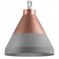 Betonowa lampa wisząca CRAFT XL beton/góra miedź