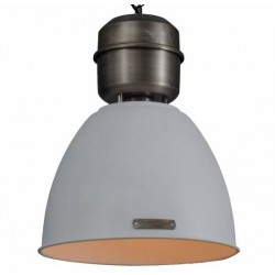 Loftowa lampa wisząca Voltera 32 cm (biała / nikel)