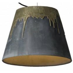 Betonowa lampa z mosiężnym akcentem, KOPA LIQUID BRASS