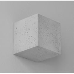 Mały kinkiet betonowy, sześcian KORYTKO 12 CLEONI