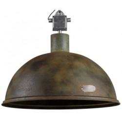 Industrialna lampa wisząca - metalowa oprawa, wersja Rusty Green