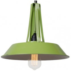 Industrialna lampa wisząca Tarta S - niebieska, zielona lub różowa